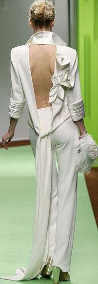bruidsbroekpak met sexy rugdecolleté