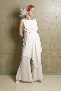 bruidsbroekpak wit