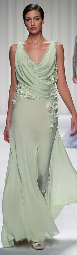 chiffon zijde avond jurk