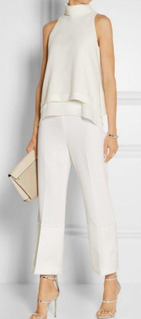wit trouw broekpak